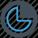 pie, analytics, chart, pie chart icon icon