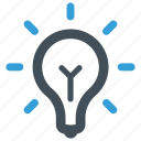 blub, bright, idea, lightbulb, solution icon icon