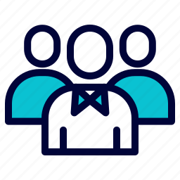 business, group, leader, team icon