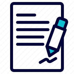 business, contract, document, paper, sign icon