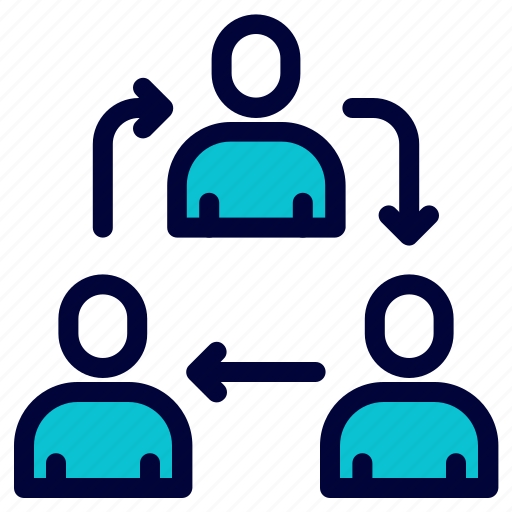 business, flow, share, team, work icon