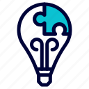 brainstorming, bulp, business, idea, lamp, light icon