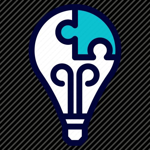 brainstorming, bulp, business, idea, lamp, light icon