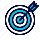business, dart, target icon