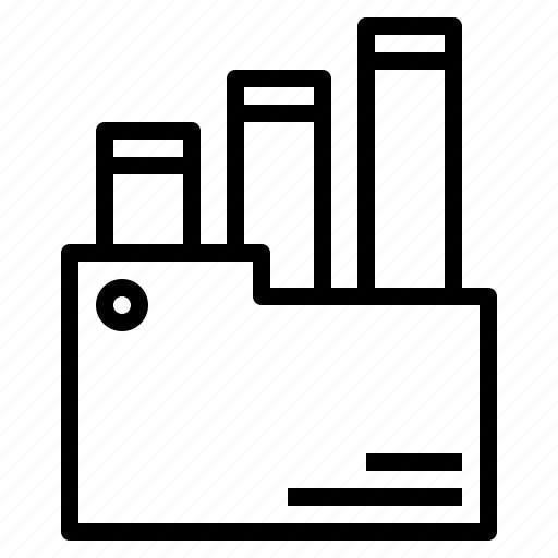 folder, graph icon
