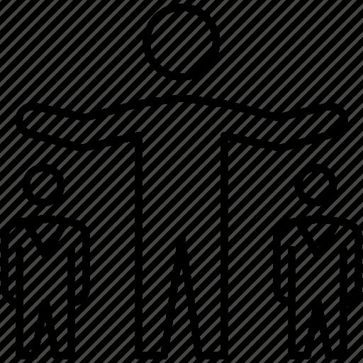 businessman, group, leader, leadership icon, team icon