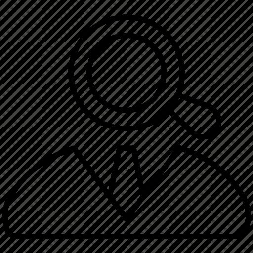 employe, job, search, target, view icon icon