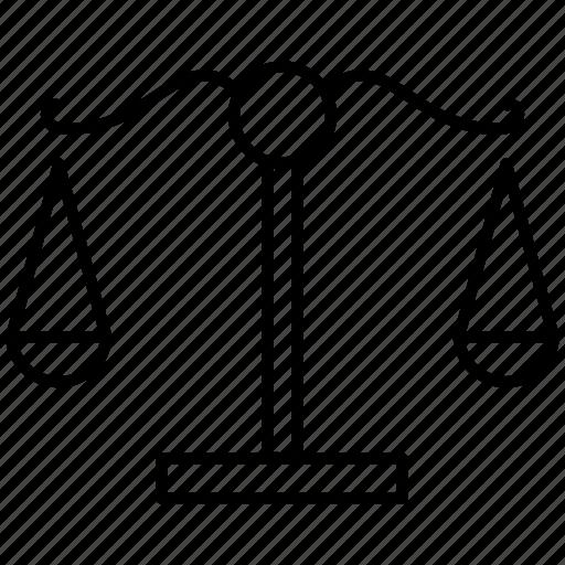balance, compare, justice, law, scale icon icon