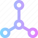 business, chain, connection, network icon