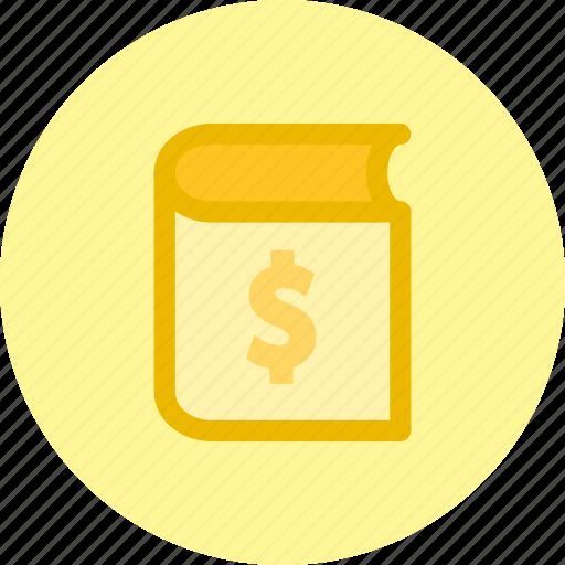 book, finance, price, report icon
