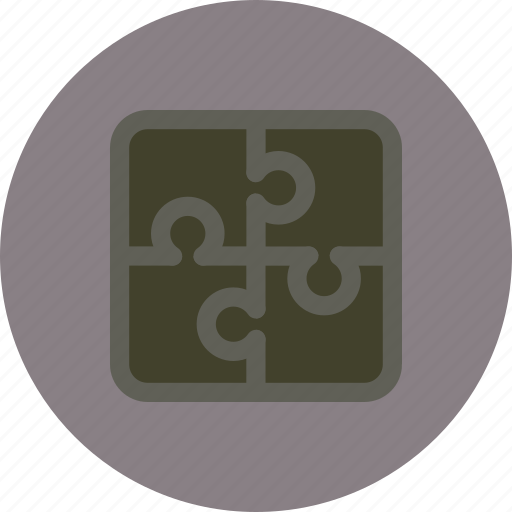 game, jigsaw, puzzle, strategy icon