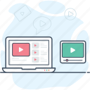 business video tutorial, online study, online training, video lecture, video marketing, video tutorial icon icon