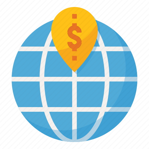 address, business, location, map, money icon