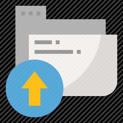 backup, cloud, folder, upload icon