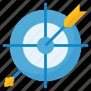 arrow, bullseye, goal, target icon