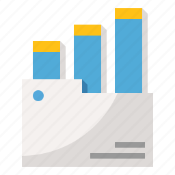 chart, document, file, folder, graph icon