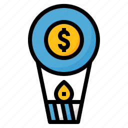 air, balloon, business, money icon