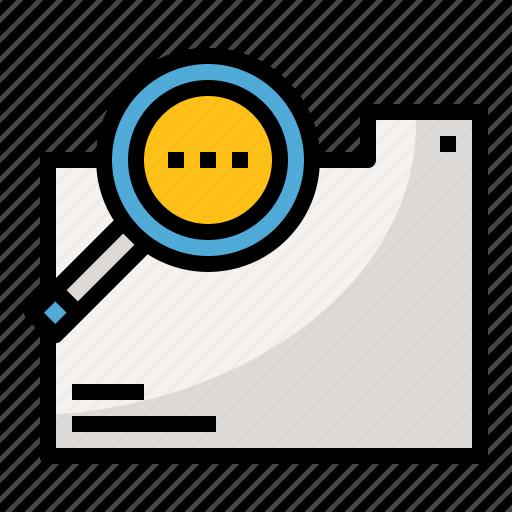 analysis, file, folder, research icon