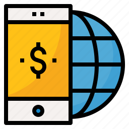 app, global, mobile, money, phone icon