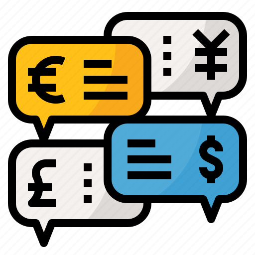 business, chat, finance, message, money, talk icon