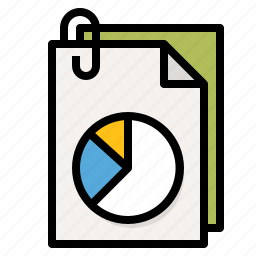 chart, document, file, graph icon