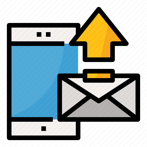 email, message, phone, send icon