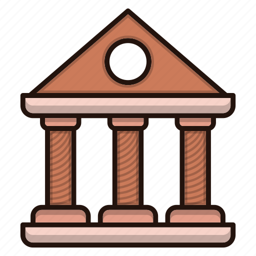 bank, building, business, finance, front icon