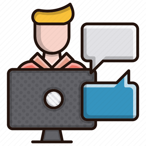 business, chat, finance, meeting, online, support icon