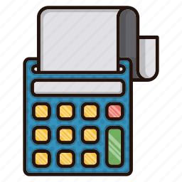 accounting, business, education, finance, machine icon