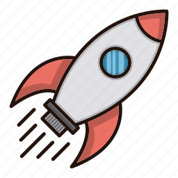 business, finance, rocket, seo, space icon