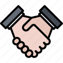business, deal, hand, job, office, partnership, shake icon