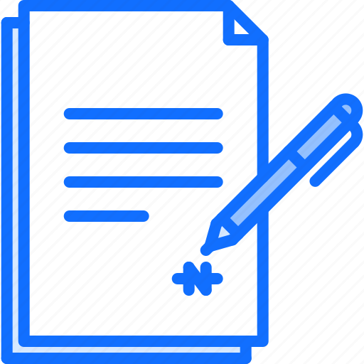 business, contract, job, office, pen, sign, signature icon