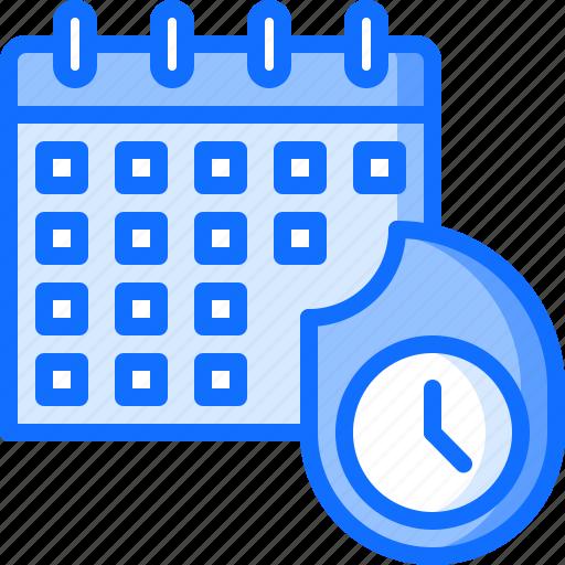 business, calendar, clock, deadline, fire, office, time icon