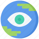 business, earth, global, job, office, planet, vision icon