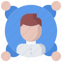 business, corporation, manager, office, people, project, team icon