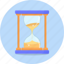 clock, deadline, glass, hourglass, time icon