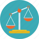 balance, justice, laws, legal, scales icon