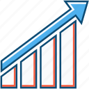 business, chart, entrepreneur, forex, growth, up icon