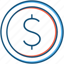 business, coin, currency, dollar, entrepreneur, finance, forex, trading icon