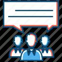 business, entrepreneur, forum, group, talk, work icon