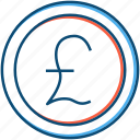 business, coin, currency, entrepreneur, finance, forex, gbp, pound, trading icon