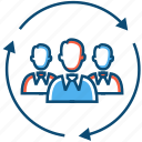business, community, entrepreneur, group, looping, people icon