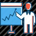 business, entrepreneur, finance, forex, presentation, statistics, trading icon