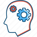brain, business, gear, idea, think, thinking icon