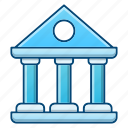 bank, banking, building, business, finance icon