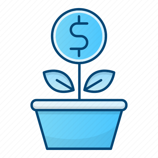 business, growth, invest, money, plant icon