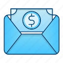 business, envelope, invoice, tax, taxes icon