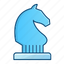 business, chess, horse, plan, strategy icon