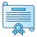 agreement, certificate, diploma, license icon
