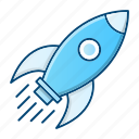 business, rocket, spaceship, startup icon